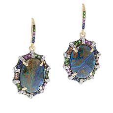 Rarities Azurite Multigem Scalloped Drop Earrings