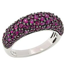 Rarities Black Rhodium Sterling Silver Pink Sapphire Domed Ring
