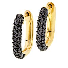 Rarities Gold-Plated 1ctw Diamond Hoop Earrings