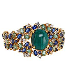 Rarities Gold-Plated Malachite and Multi-Gemstone Bracelet