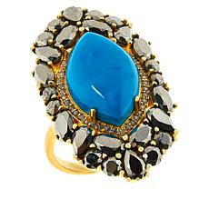 Rarities Gold-Plated Sterling Silver Gem, Pyrite and Zircon Ring