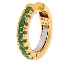 Rarities Gold-Plated Sterling Silver Gemstone Cuff Earring