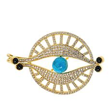 Rarities Gold-Plated Turquoise and Multi-Gemstone Evil Eye Pin