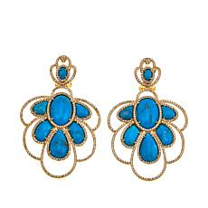 Rarities Kingman Turquoise & White Zircon Drop Earrings