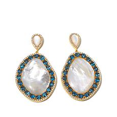 Rarities Mother-of-Pearl & Gem Vermeil Drop Earrings