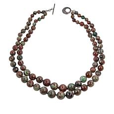 Rarities Multicolored Garnet 2-Strand Graduated Bead Necklace