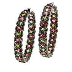 Rarities Multicolored Tourmaline Inside/Outside Hoop Earrings