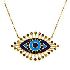 Rarities Multigem Evil Eye Talisman Pendant Necklace