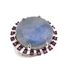 Rarities Round Gem Cabochon and Sapphire Ring