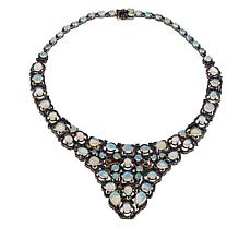 Rarities Sterling Silver Opal, Diamond and Multi-Gemstone Bib Necklace