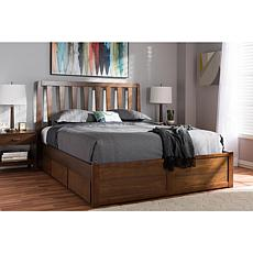 Raurey Queen Size Storage Platform Bed