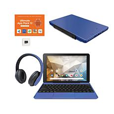 """RCA 10.1"""" 32GB Tablet with Voucher Keyboard and DJ Headphones"""