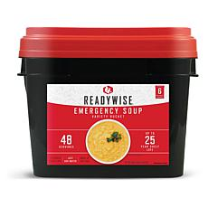ReadyWise Emergency Soup Grab and Go Bucket - 48 Servings