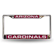 Red Chrome License Plate Frame - Arizona Cardinals