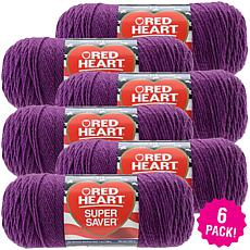 Red Heart Super Saver Yarn 6-pack - Dark Orchid