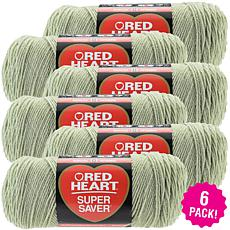 Red Heart Super Saver Yarn 6-pack - Frosty Green