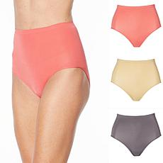 Rhonda Shear 3-pack Ahh Seamless Moisture Wicking High-Waist Brief