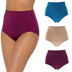 Rhonda Shear 3-pack Pin Up Brief with Lace Trim - Colors