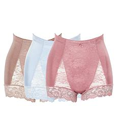 Rhonda Shear 3-pack Pin-Up Panty with Lace Back Detail