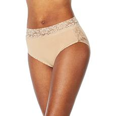 17c39f5922e02 Rhonda Shear 3-pack Seamless Brief with Lace Detail