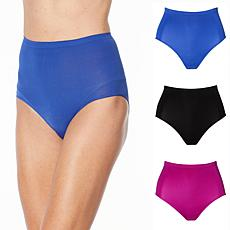 Rhonda Shear 3-pack Seamless Moisture Wicking High-Waist Brief