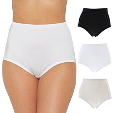 Rhonda Shear 3-pack Smooth Pinup Brief with Lace Trim