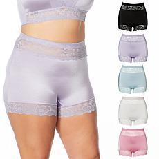 Rhonda Shear 5-pack Pinup Panty with Lace Trim