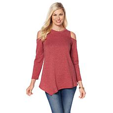 "Rhonda Shear ""Ahh Dreams"" Cold-Shoulder Cozy Top"