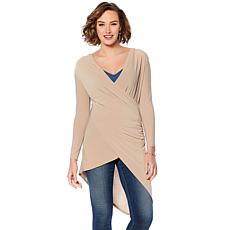 Rhonda Shear Asymmetrical Jersey Top