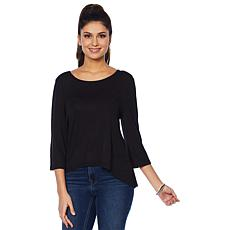 Rhonda Shear High-Low Top with 3/4 Sleeves