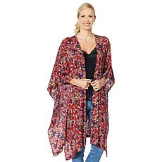 Rhonda Shear Kimono Robe with Side Ties