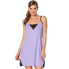 Rhonda Shear Sleepwear Chemise with Shelf Bra
