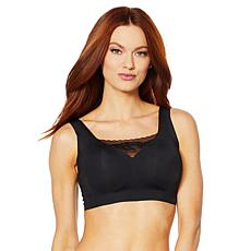 Rhonda Shear Soft Body Bra with Lace Inset