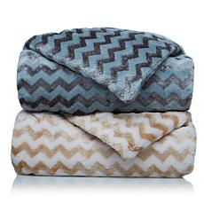 Richard Mishaan Plush Chevron Throw