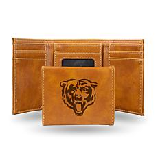 Rico Bears Laser-Engraved Brown Trifold Wallet