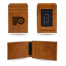 Rico Flyers Laser-Engraved Brown Front Pocket Wallet