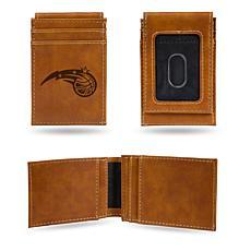 Rico Magics Laser-Engraved Brown Front Pocket Wallet