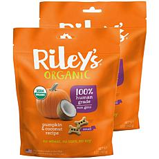 Riley's Organics  Pumpkin & Coconut Small Bone Dog Treats 2 Pack 5 ...