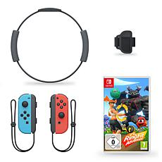 Ring Fit Adventures with Neon Joy Con Controllers