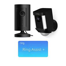 Ring Security Spotlight Camera and Indoor Camera with Ring Assist+