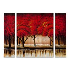 "Rio ""Parade of Red Trees II"" Multi-Panel Art Set - 24"" x 32"""