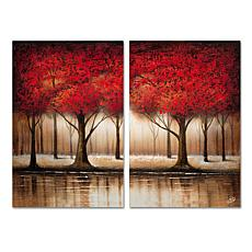 Rio 'Parade of Red Trees' Multi-Panel Art Collection