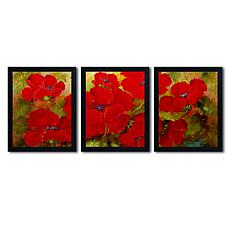 Rio 'Poppies' Multi-Panel Art Collection