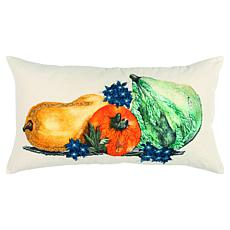 """Rizzy Home Embroidered Gourd 14"""" x 26"""" Decorative Throw Pillow"""