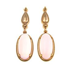R J Graziano Glow Show Oval Stone Goldtone Drop Earrings
