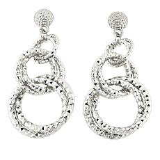 "R.J. Graziano ""Light the Way"" Circle Link Drop Earrings"