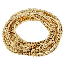 R.J. Graziano Metal Beaded 10-piece Stretch Bracelet Set