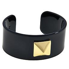 R.J. Graziano Pyramid Stud Resin Cuff Bracelet
