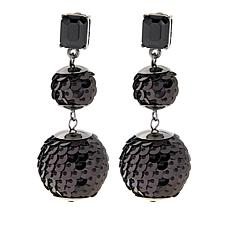 "R.J. Graziano ""Swing Time"" Sequin Ball Drop Earrings"
