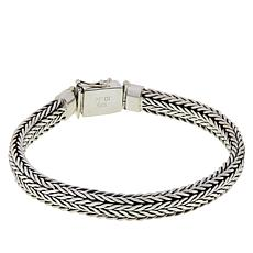 "Robert Manse ""BroManse"" Men's Sterling Silver Wheat Chain Bracelet"